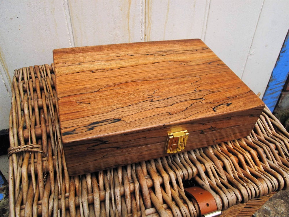 Image of Handmade spalted walnut float box