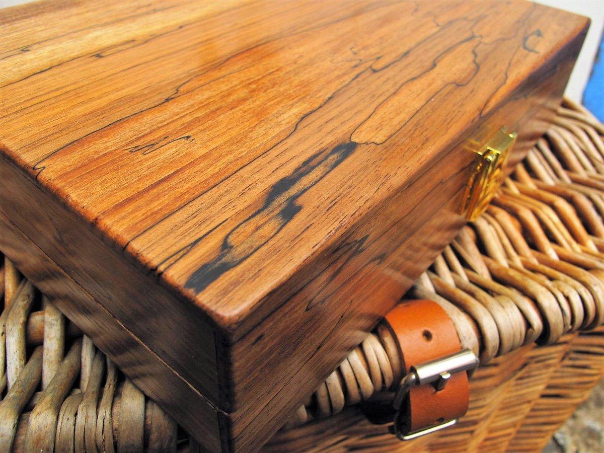 Image of Handmade spalted walnut float box