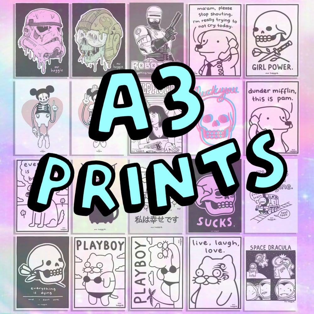 Image of The A3 prints 2.