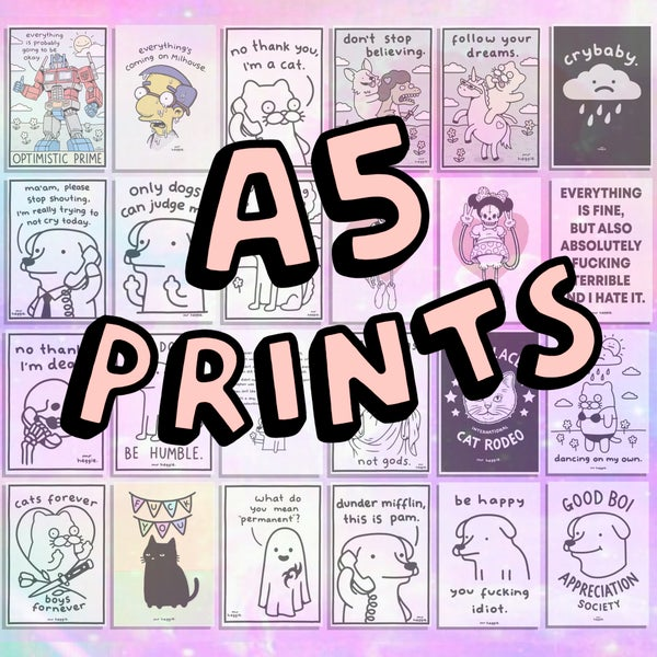 Image of the A5 prints 1.