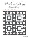"""Kasbah Floor Stencil for floors, walls, furniture and fabric. Moroccan stencil. 30x30cms 12""""x12"""""""