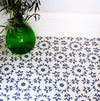 Esmeralda Floor Stencil for floors, walls, furniture and fabric. Repeating pattern stencil.