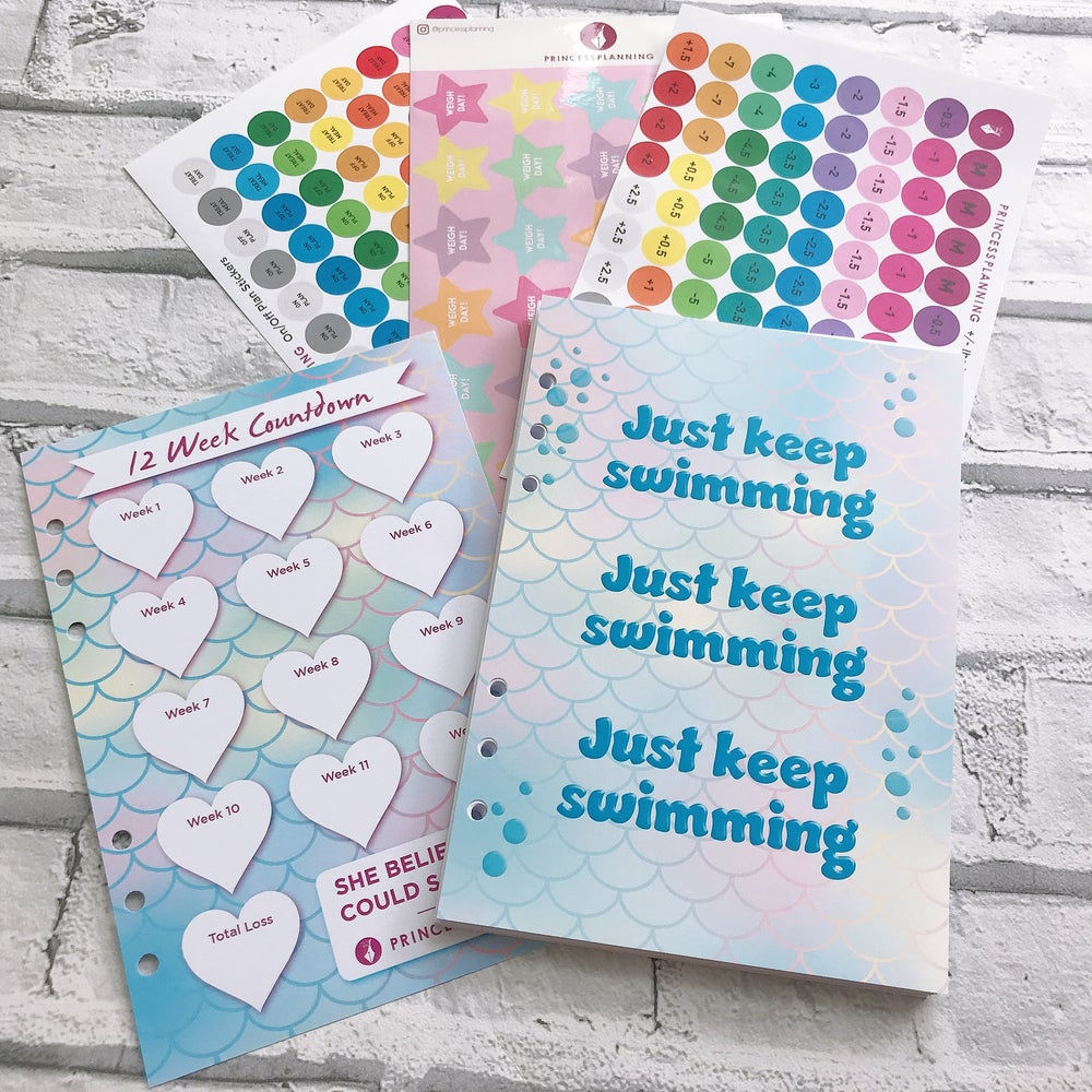 Image of MERMAID FOOD DIARY ORGANISER INSERT BUNDLE