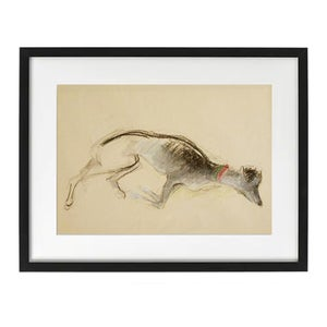 Image of Drawing of a Sleeping Dog, (1) Audrey Lanceman
