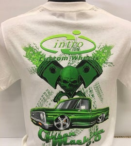 "Image of ""Green Machine"" White T-Shirt"