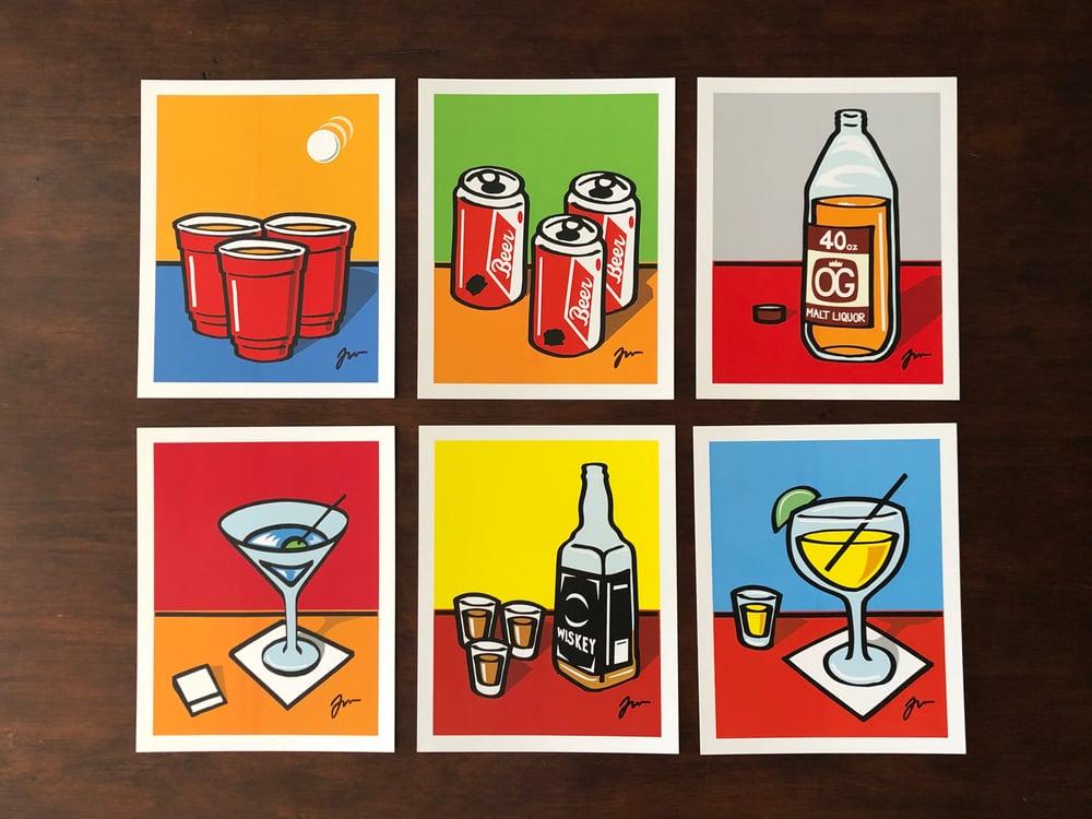"Image of 8""x10"" Drink series prints"
