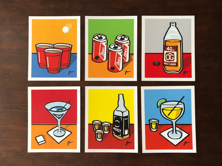 "Image of 8""x10"" Drink series prints"