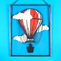 Hot Air Balloon & Clouds in Clear Frame