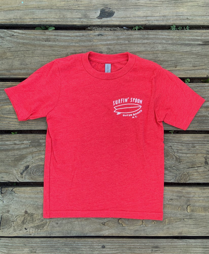 Image of NEW // Spoon Board Logo Kids Tee - Red