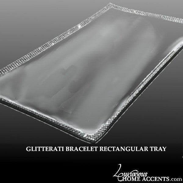 Image of Sparkling Crystal Bracelet Rectangle Tray