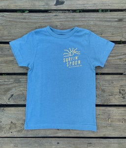Image of NEW // Spoon Sun Logo Kids Tee - Heather Blue