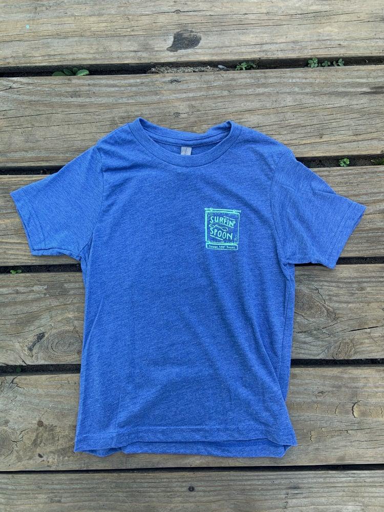 Image of NEW // Classic Logo Kids Tee - Heather Blue