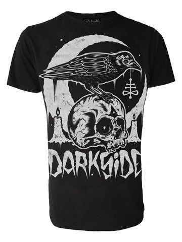 Image of DARKSIDE Skull Crow Men's T-Shirt