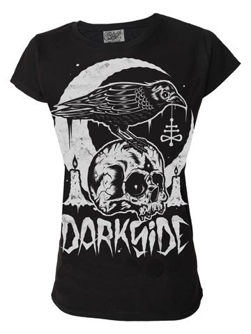 Image of DARKSIDE Skull Crow Women's T-Shirt