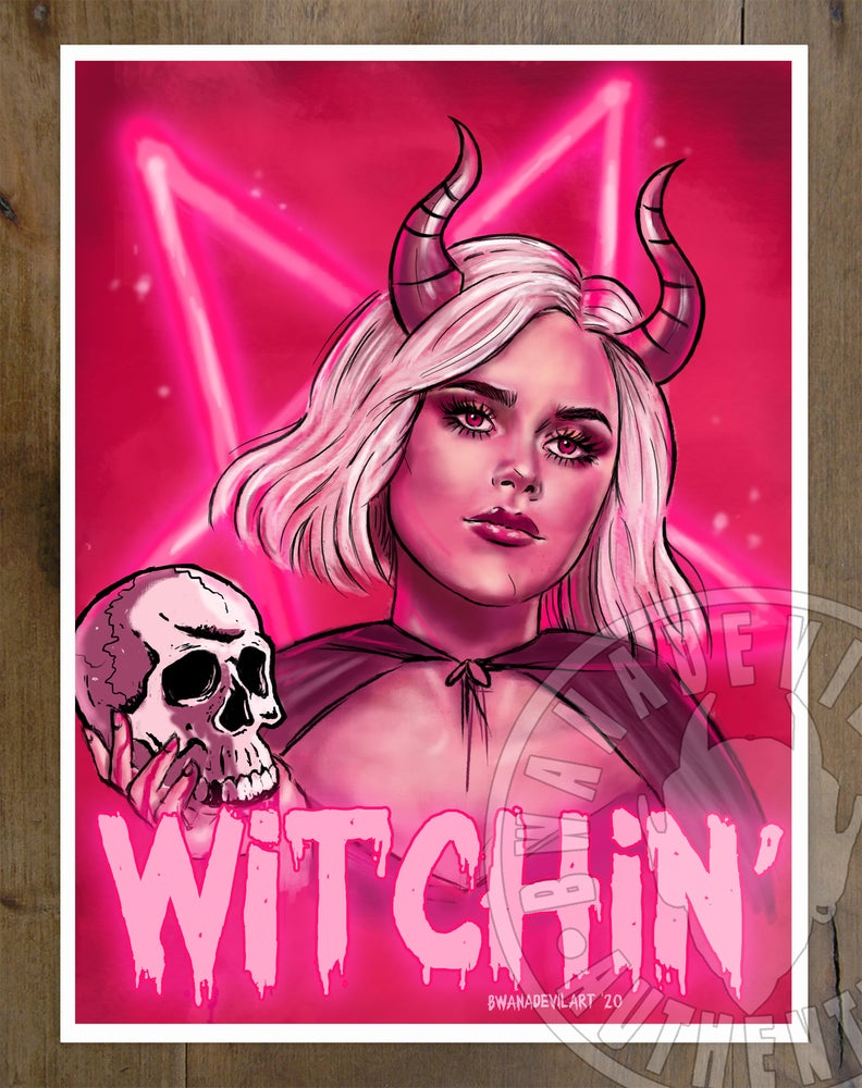 Image of Witchin' (The Chilling Adventures of Sabrina) Art print 9x12 in.