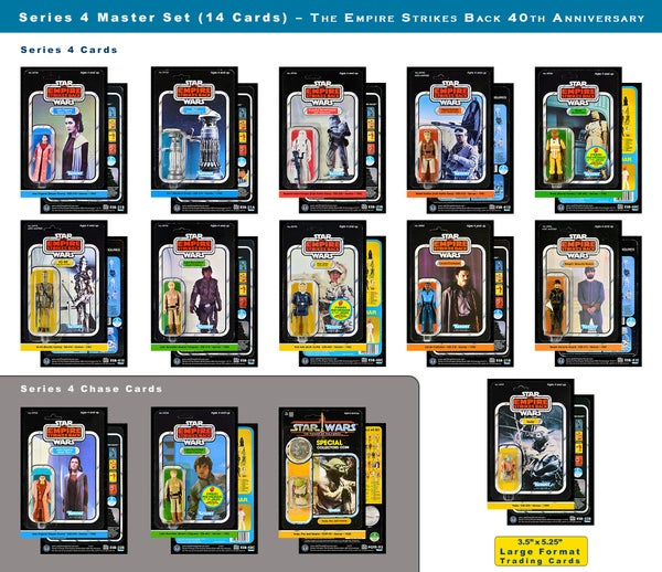 Image of Series 4 MASTER set Vintage Card Back Trading Cards (set of 14): The Empire Strikes Back 40th Annv.