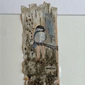 Image of CHICKADEE 5 on birch original