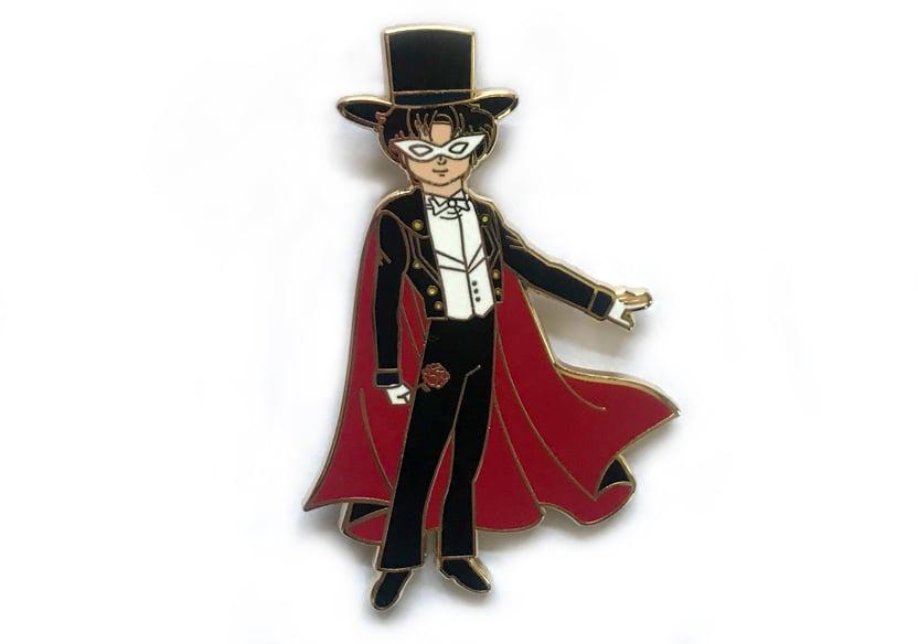 Image of Tuxedo Mask Enamel Pin