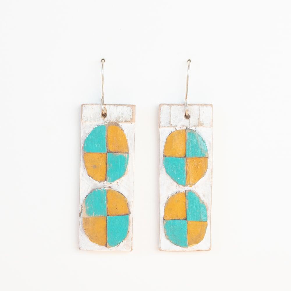 Marigold/Turquiose Pinwheel