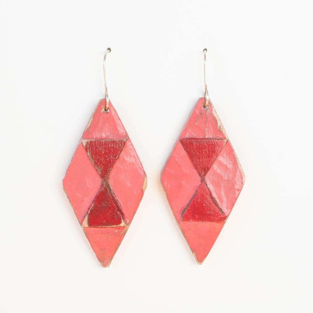 Coral/Red Diamonds
