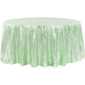 Sequin 120 round tablecloth