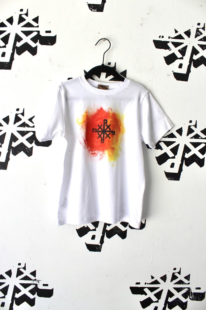 Image of early rising tee in white