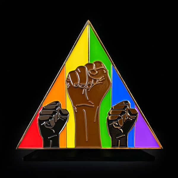 Image of TOGETHER BLM Pride Rainbow Pin