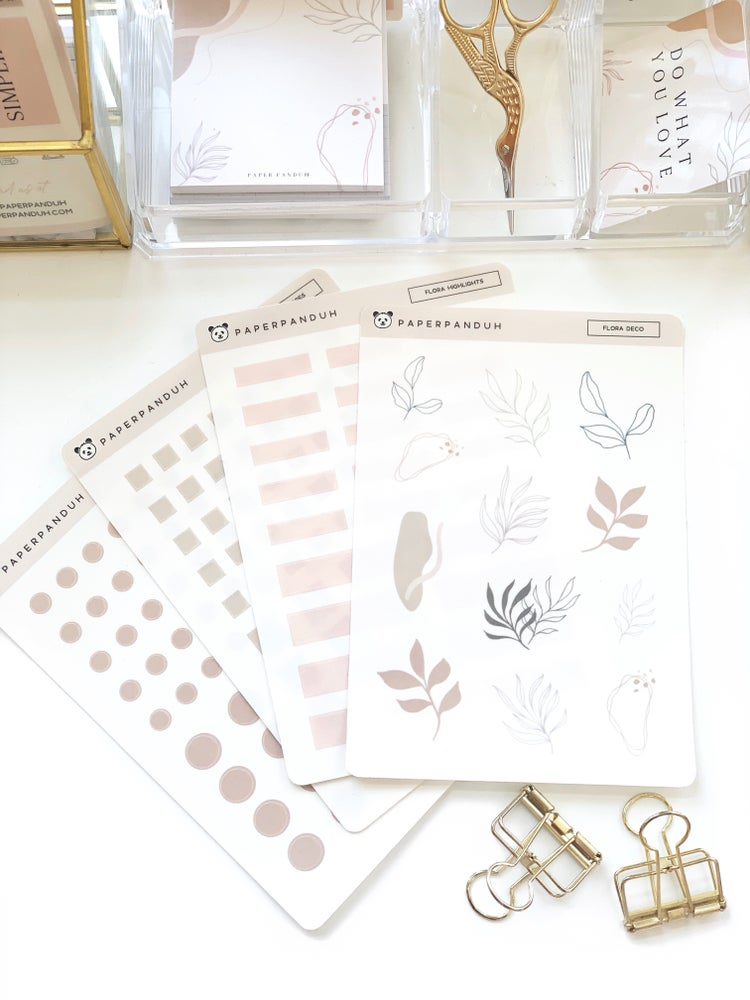 Image of Flora Transparent Sticker Set