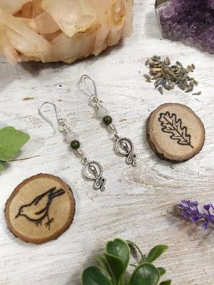 Image of Serpent Moon earrings