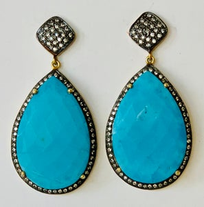 Image of Facet cut turquoise