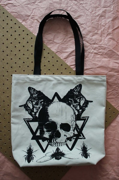 Image of Two Headed Cat Tote