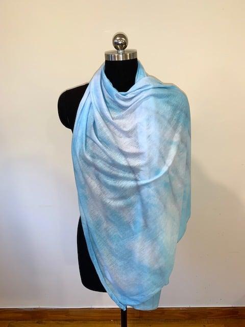 Image of Blue Patterned Hijab