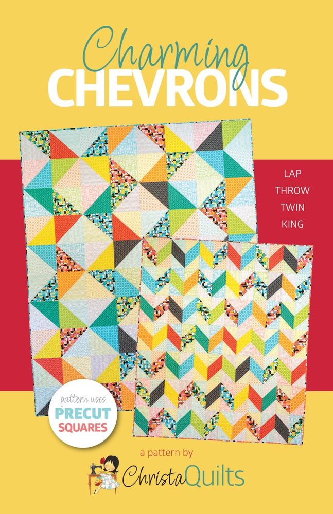 Charming Chevrons Paper Quilt Pattern by Christa Watson (CQ129) - Ships approximately July 31