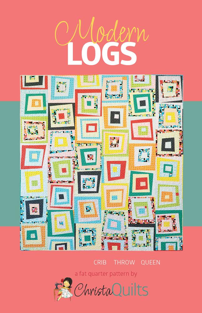 Modern Logs Paper Quilt Pattern by Christa Watson (CQ128)