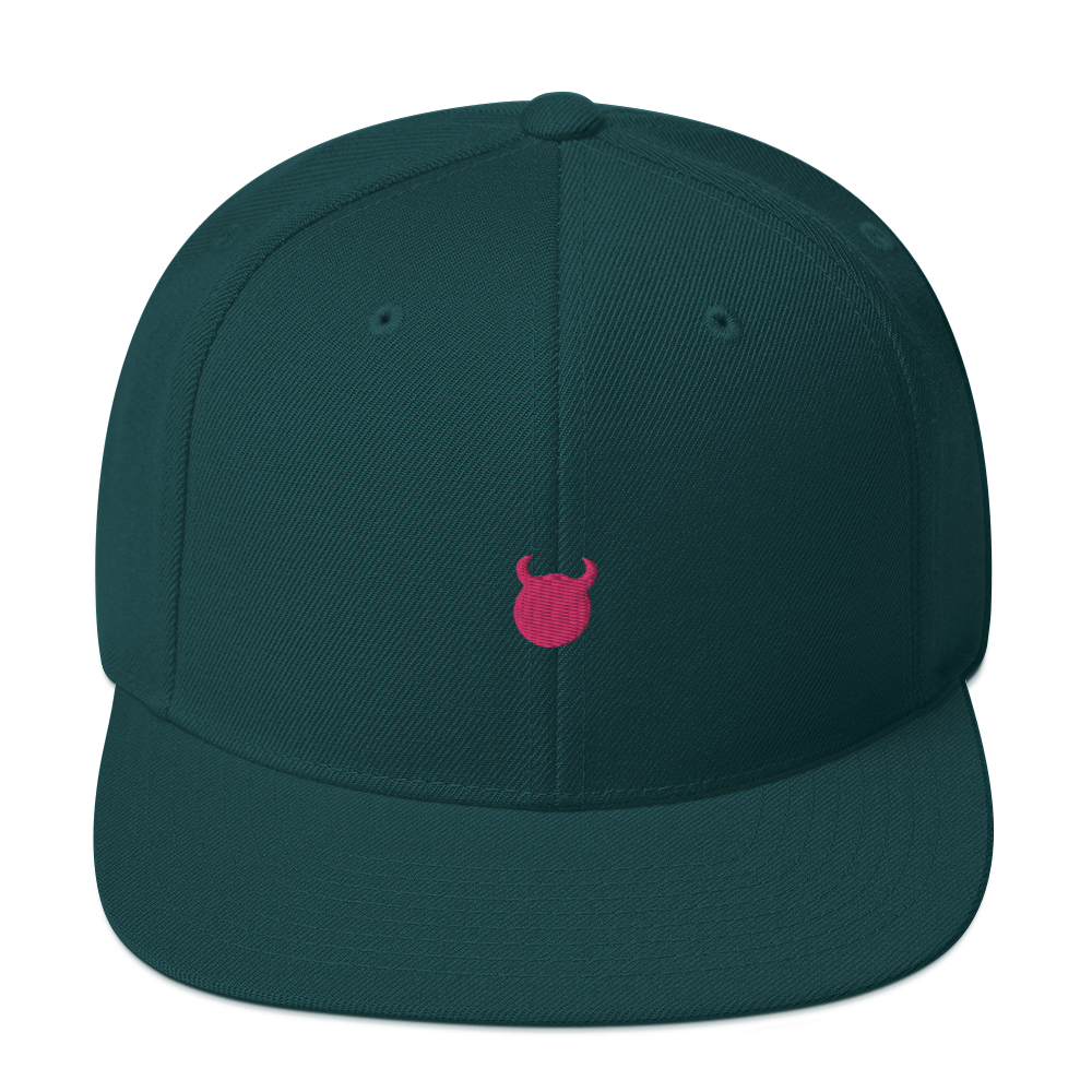 Image of Snapback Hat | Green/Pink Logo