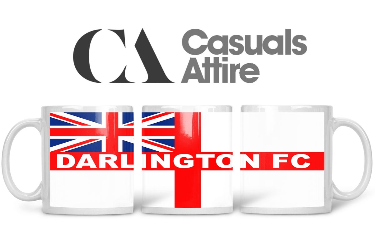 Darlington, Football, Casuals, Ultras, Fully Wrapped Mug. Unofficial.