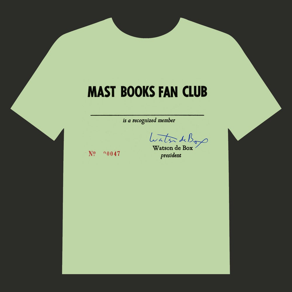 Image of MAST BOOKS FAN CLUB Tee Shirt *FREE SHIPPING*