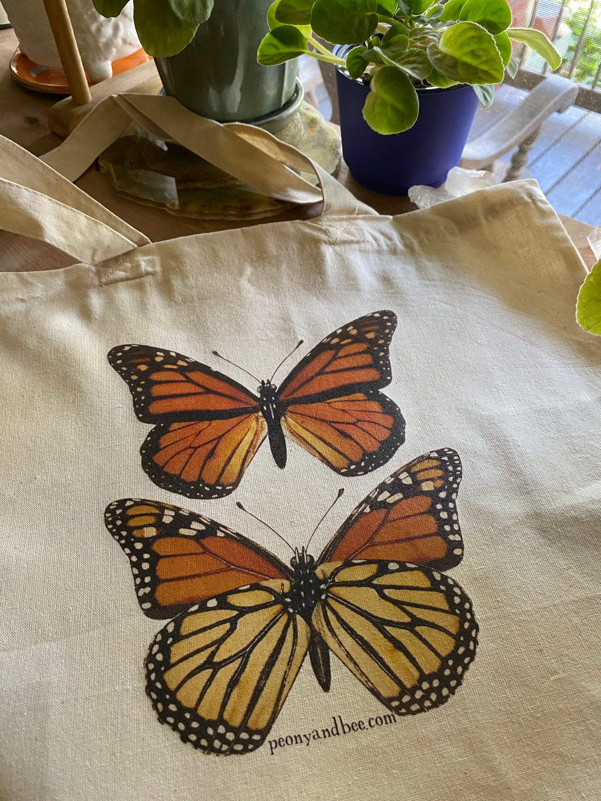 Image of Lightweight Canvas Tote - Monarch