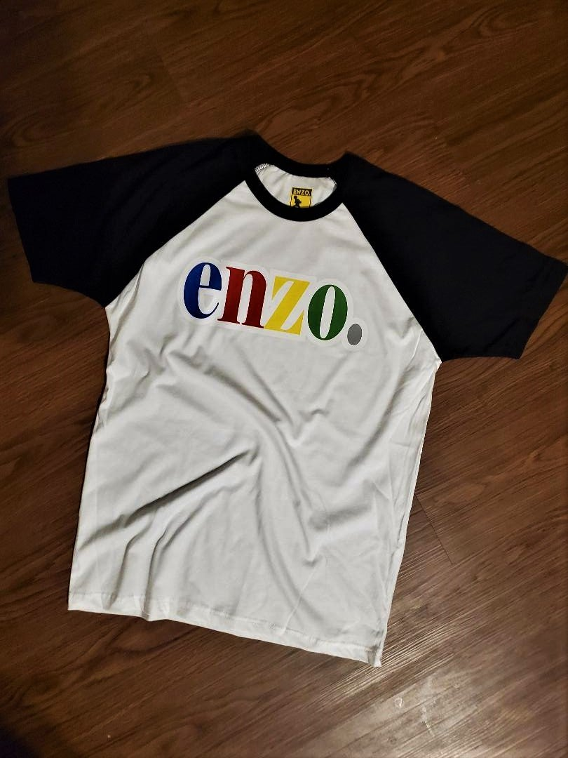 Image of Enzo Chest Crewneck By Enzo (Enzo Blk/White)