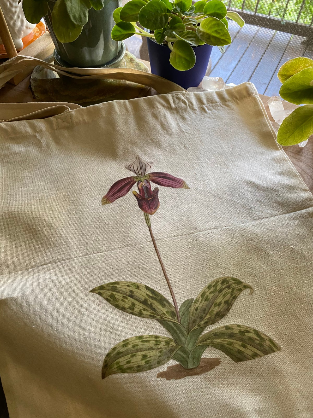 Image of Lightweight Canvas Tote - Orchid