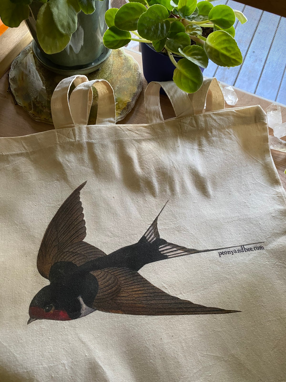 Image of Lightweight Canvas Tote - Swallow