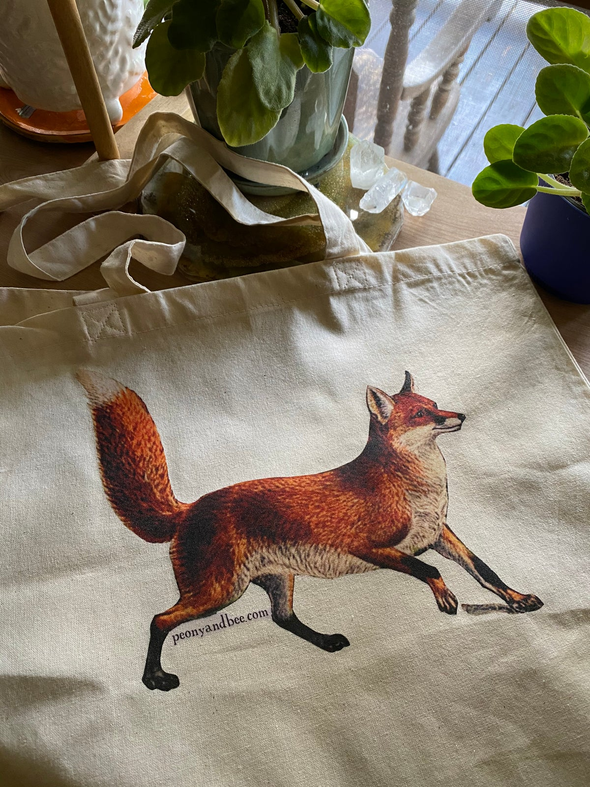 Image of Lightweight Canvas Tote - Fox