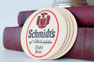 Image of Vintage Schmidt's Beer Coasters