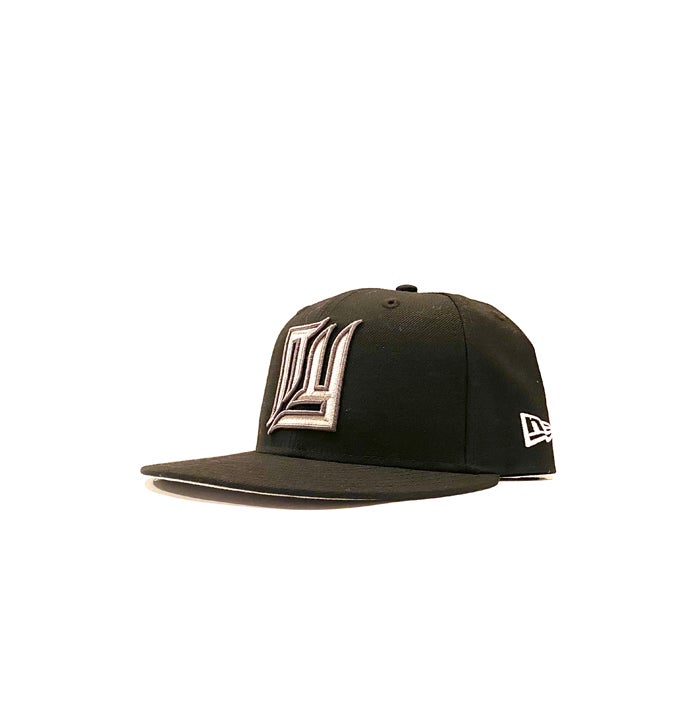Image of 2520 X NEW ERA NEW NEW YORK (BEVEL CUT) 59FIFTY FITTED - BLACK