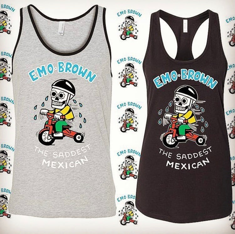 Emo Brown Tricycle Tank - Men's