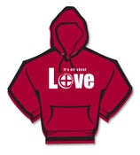 Image of It's All About Love Hoodie, plus sizes