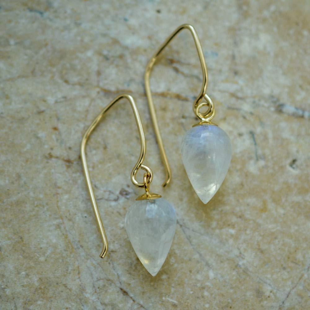 Image of Rainbow Moonstone Acorn Earrings