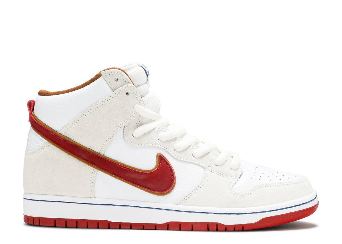 "Image of NIKE SB DUNK HIGH ""TEAM CRIMSON"""
