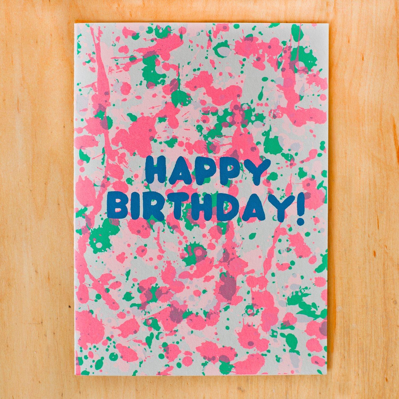 Image of Birthday Splatter Neon