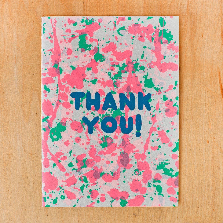 Image of Thank You Splatter Neon